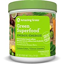 Amazing Grass Green Superfood Energy Organic Powder with Wheat Grass and Greens, Flavor: Lemon Lime, 30 Servings, 7.4 Ounces