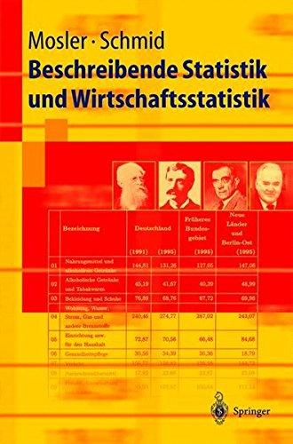 Beschreibende Statistik Und Wirtschaftsstatistik  Springer Lehrbuch