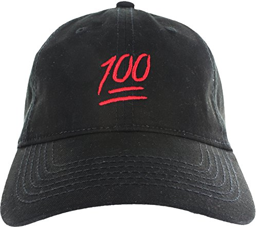 Dad Hat Cap – Emoji 100 Hundred Embroidered Adjustable Baseball Cap
