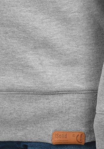 Trip Cuello Melange Light Tacto Grey Con Redondo Para Suave 8242 solid Hombre Al Jersey Forro Suéter Sudadera Polar Swqa6Wxd0R