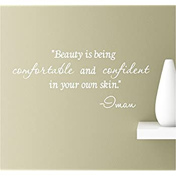 Amazoncom Beauty Is Being Comfortable And Confident In Your Own