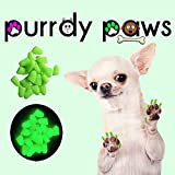 40-Pack Soft Nail Caps For Dog Claws ULTRA GLOW X-LARGE Purrdy Paws