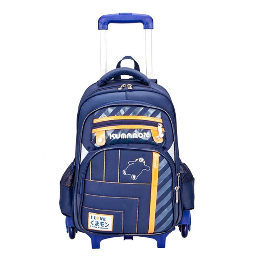 BYGenMai Schultrolley Schulranzen Trolley-Schulrucksack für Mädchen und Jungen mit sechs Rädern für Treppensteigen Kinder tragen Ihr Gepäck Weißer,D