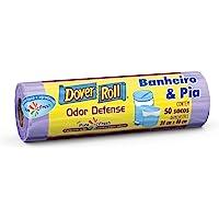 Saco para lixo Dover-Roll Odor Defense, Banheiro & Pia, Lilás, Pure Fresh, rolo com 50 sacos, 510022028