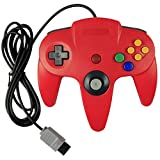 abcGoodefg® Classic Wired Long Handle Video Game Console Controller for Nintendo 64 N64 Game Console (Black)