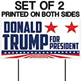"Donald Trump for President 12""x24"" Corrugated Plastic Sign (2 stakes per sign) (2)"