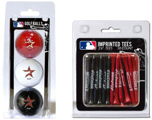 Team Golf MLB Houston Astros Logo Imprinted Golf Balls (3 Count) & 2-3/4