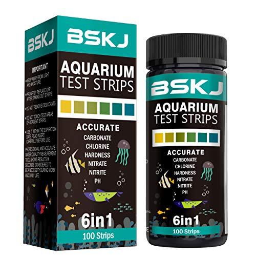 - BSKJ 6 in 1 Aquarium Water Test Strips Saltwater Freshwater Fish Pond Test Kit Multielement Testing of Water