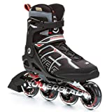 Rollerblade Men's Macroblade 84ALU Skate, Black/Red, 7.5