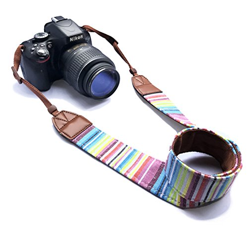 Alled RR-12-28-10 Camera Neck Shoulder Belt Strap, Vintage Print Soft Colorful Camera Straps for Women/Men for All DSLR/Nikon/Canon/Sony/Olympus/Samsung/Pentax ETC/Olympus, Colorful