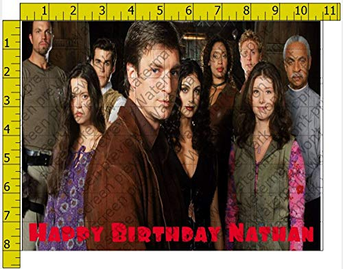 Firefly Show Cast Birthday Personalized Edible Frosting Image 1/4 sheet Cake Topper