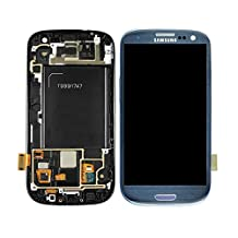 Multizon Samsung Galaxy S3 III LCD Digitizer+frame I747 T999 At&t T-mobile - Blue