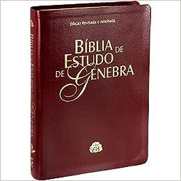 Biblia De Estudo Genebra (Capa Em Couro Bonded Vinho)