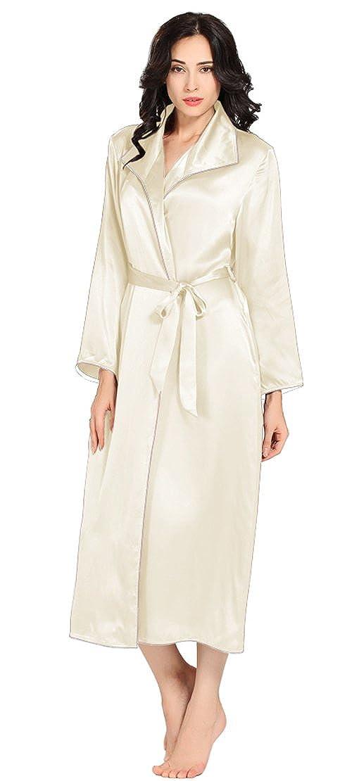 Beige LilySilk Luxury Silk Robe for Women 100% Pure Silk 22 Momme