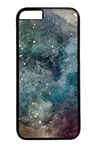 Abstract space Custom iphone 6 plus 5.5 inch Case Cover Polycarbonate Black