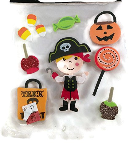 Halloween Trick or Treaters Foam 3d Stickers with Glitter Accents]()