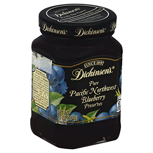 Dickinsons Pure Pacific Northwest Blueberry Preserves  10 Ounces  1 Jar