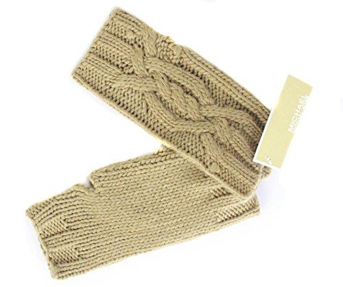 Michael Kors Knit Fingerless Gloves, Camel/Tan O/S