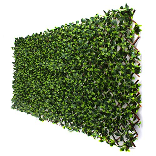 (3rd Street Inn Gardenia Leaf Trellis 1-Pack - Bamboo Greenery Panel - Boxwood and Ivy Privacy Fence Substitute - DIY Flexible Fencing (Gardenia))