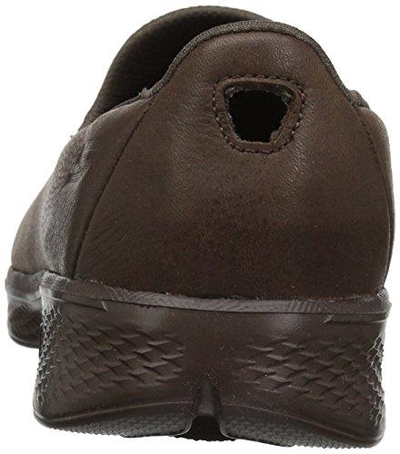 Womens Skechers Vanno A Piedi A 4 Desiderato Sneaker Cioccolato