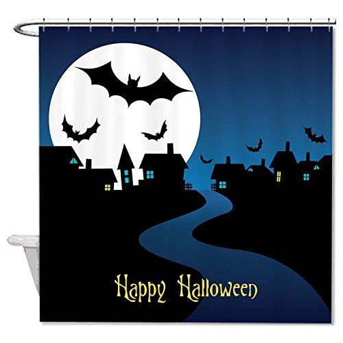 HANHAOKI Halloween Party Flyer Blue Shower Curtain for Bathroom (Ideas For Halloween Party Flyers)