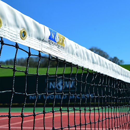 Net World Sports Grand Slam Quality Singles Tennis Net (33ft Wide) (2.5mm Braided Twine) - Awesome Addition to Any Tennis Court