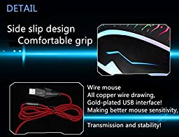 XS 2400 DPI Optical USB Wired Gaming Mouse Mice For PC Laptop MAC D