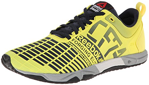 Reebok Women's Crossfit Sprint TR Training Shoe, Stinger Yellow/Reebok Navy/Metallic Silver, 10 M US by Reebok
