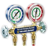 Yellow Jacket 44215 Series 41 Manifold with 2-1/2 Gauge, psi, R-12/22/502
