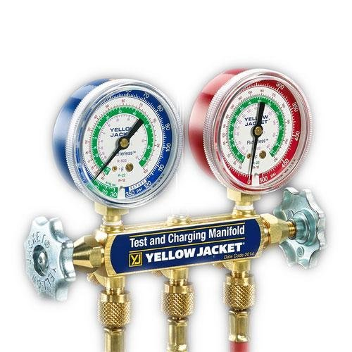 Yellow Jacket 44315 Series 41 Manifold with 2-1/2'' Gauge, psi, R-134A/404A/507