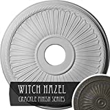 Ekena Millwork CM20BE1WHC Berkshire Ceiling Medallion, Witch Hazel Crackle