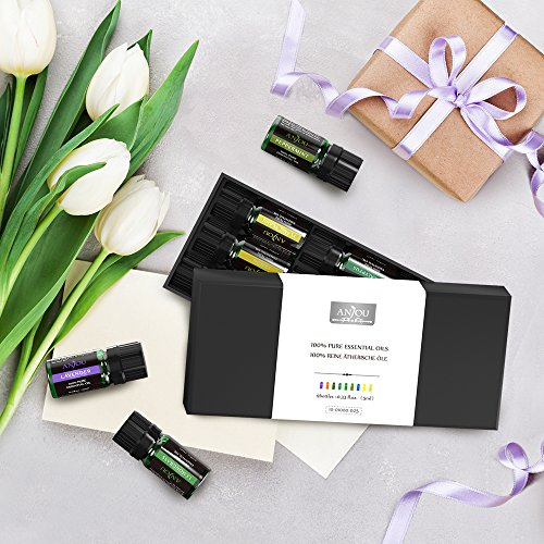 Anjou Aromatherapy Top 9 Essential Oils Set, 100% Pure Therapeutic Grade, Sampler Gift Kit, 9 x 5 ml (Tea Tree, Lavender, Frankincense, Lemongrass, Sweet Orange, Peppermint, Eucalyptus, Lemon etc.) by Anjou (Image #7)