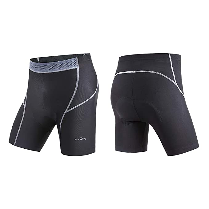 4ucycling Men's Cycling Shorts 3D Gel Padded for Bicycle Riding Bike Biking Cycle