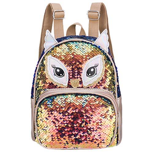 - Kid School Bags Backpack,SIN+MON Child Backpack Toddler Kindergarten Cartoon Shoulder Book Bags Cute Totes Shoulders Bag (Gold, one Size)
