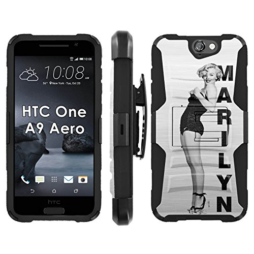 HTC One A9 Aero Phone Cover, Marilyn Swim Suit- Blitz Hybrid Armor Phone Case for [HTC One A9 Aero] with [Kickstand and Holster]