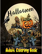 Halloween Adult Coloring Book: For Hours Of Fun, An Halloween Coloring Book Stress Relief Adult Relaxation   Spooky witch coloring books for adults, Haunted House, Monsters, Customs And More   Gift For all Adults, Women