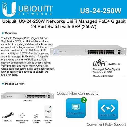Ubiquiti US-24-250W Unifi Switch24-port250W by Ubiquiti Networks