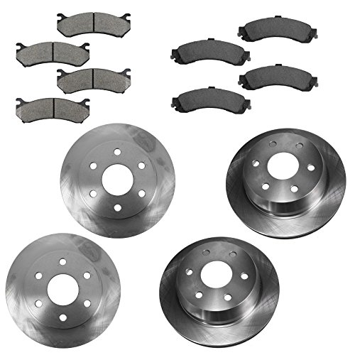 Front & Rear Premium Posi Ceramic Disc Brake Pads & Rotors Kit for GM