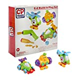(US) CP Toys E-Z Build It Yourself Vehicle Set with Battery-Operated Power Drill / 62 pc. Set