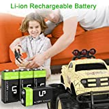 LP 9V Rechargeable Battery Pack, 4-Pack 600mAh