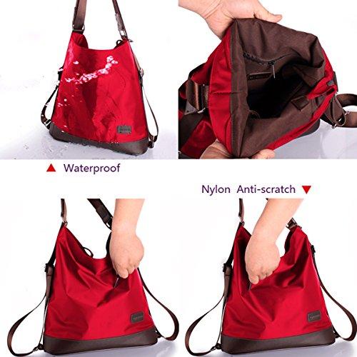 Tote Red Shoulder Nylon Multifunctional Women Waterproof Bag Bag YAOSEN Backpack qz0tZ1