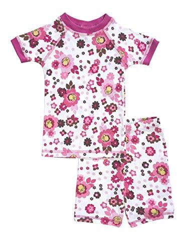 Brian the Pekingese Girls 100% Organic Cotton Short Sleeve and Shorts Pajamas