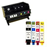 YATUNINK 1 Pack Remanufactured 4-Slot Print Head With 4 Pack Remanufactured Ink Cartridge for 564XL Photosmart 5510 5515 5525 6510 6515 7510 7525 Printers
