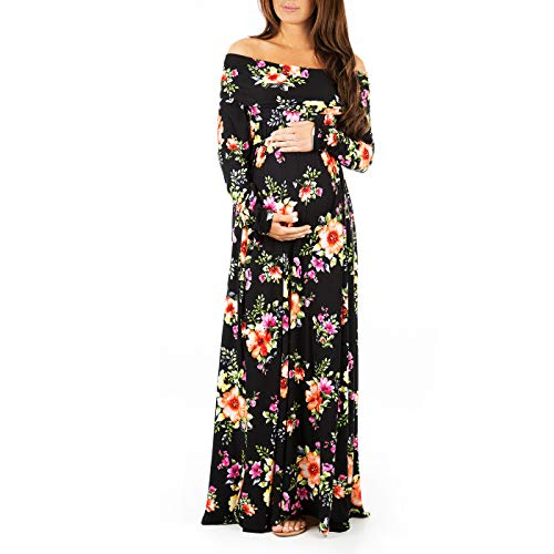 (Womens Cowl Neck and Over The Shoulder Maternity Dress)