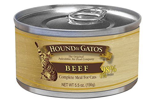 Pet Products Hound (HOUND & GATOS PET FOOD Beef Formula Canned Cat Food, 5.5 oz., 24-Pack)