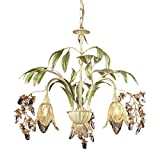 Elk 86052 3-Light Chandelier In Seashell And Amber Glass Review