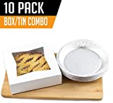 9 deep pie dish - Chefible Extra Thick Durable Pie Box With Window and Pie Tins, Box Is 9x9x2.5 Inches, Perfect for Pies and Pastries, Set of 10