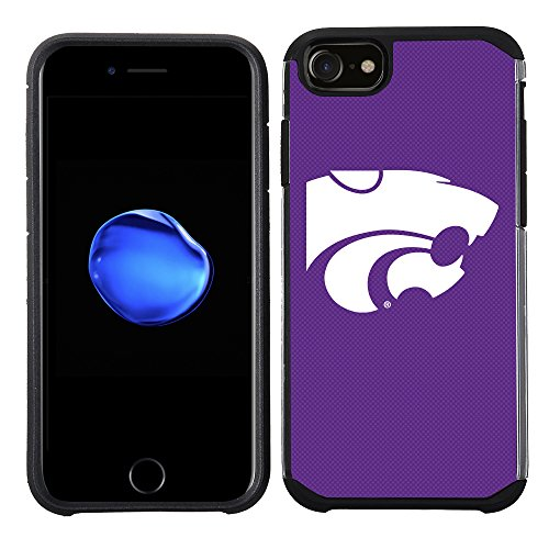 Prime Brands Group Textured Team Color Cell Phone Case for Apple iPhone 8/7/6S/6 - NCAA Licensed Kansas State University ()