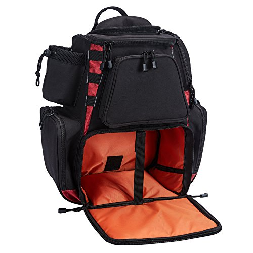 Piscifun Fishing Tackle Backpack Large Capacity Waterproof Fishing Tackle Bag with Protective Rain Cover Black