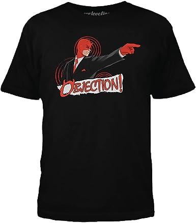 Marvel Daredevil Objection Camiseta Negra Para Hombre: Amazon ...